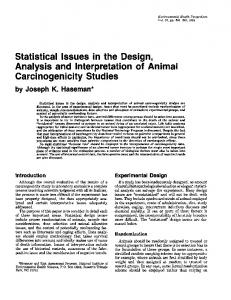 Analysis and Interpretation of Animal Carcinogenicity ... - BioMedSearch