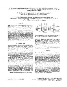 ANALYSIS AND REDUCTION OF REFERENCE FRAMES FOR ...