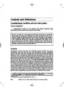 Analysis and Reflections - SSRN papers