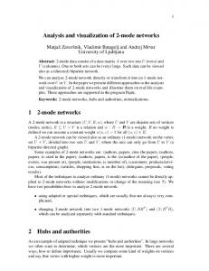 Analysis and visualization of 2-mode networks