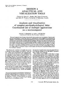 Analysis and visualization of complex ... - Springer Link