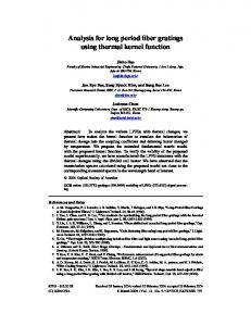 Analysis for long period fiber gratings using thermal ... - OSA Publishing