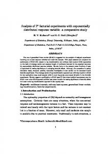 Analysis of 2n factorial experiments with exponentially ...