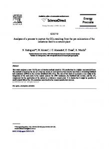 Analysis of a process to capture the CO2 resulting ...