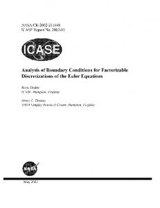 Analysis of Boundary Conditions for Factorizable ... - CiteSeerX