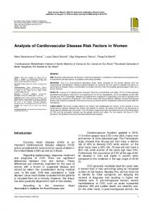 Analysis of Cardiovascular Disease Risk Factors in