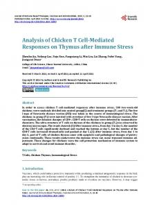 Analysis of Chicken T Cell-Mediated Responses on Thymus after