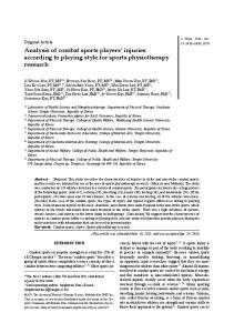 Analysis of combat sports players' injuries