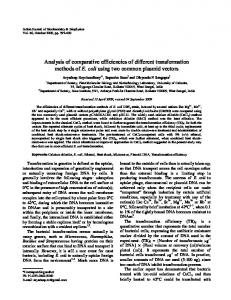 Analysis of comparative efficiencies of different ... - IMSEAR