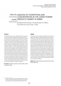 analysis of competition and concentration in the confectionery ...