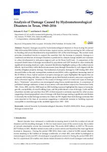 Analysis of Damage Caused by Hydrometeorological Disasters ... - MDPI
