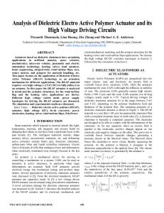 Analysis of Dielectric Electro Active Polymer Actuator and its High ...