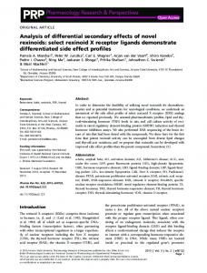 Analysis of differential secondary effects of novel ... - BPS - Wiley