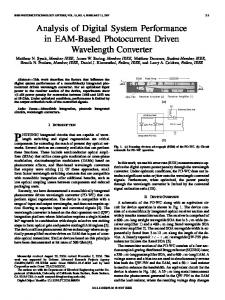 Analysis of Digital System Performance in EAM-Based ... - IEEE Xplore