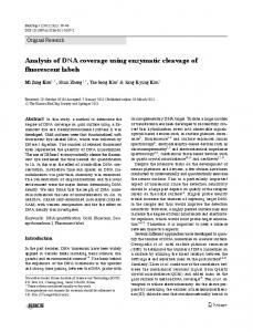 Analysis of DNA coverage using enzymatic cleavage of ... - Springer Link