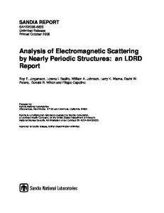 Analysis of Electromagnetic Scattering by Nearly Periodic Structures ...