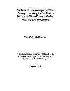 Analysis of Electromagnetic Wave Propagation using the 3D Finite ...
