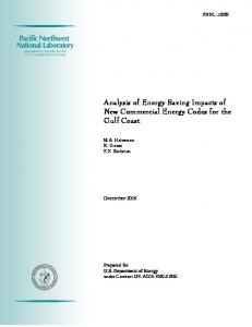 Analysis of Energy Saving Impacts of New Commercial Energy Codes ...