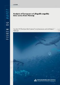 Analysis of European eel (Anguilla anguilla) time series from Norway