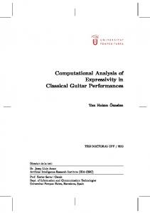 Analysis of Expressivity in Classical Guitar - TDX
