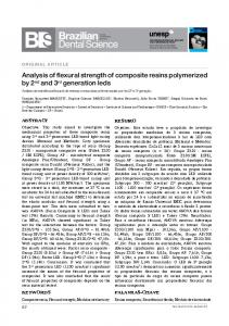 Analysis of flexural strength of composite resins