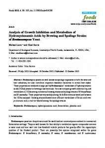Analysis of Growth Inhibition and Metabolism of