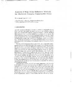 Analysis of High Order Difference Methods for Multiscale ... - CiteSeerX