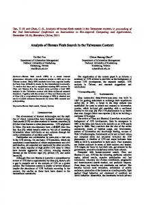 Analysis of Human Flesh Search in the Taiwanese Context - National ...