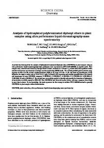 Analysis of hydroxylated polybrominated diphenyl ethers in plant ...