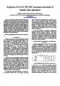 Analysis of LCLC DC-DC resonant converter in