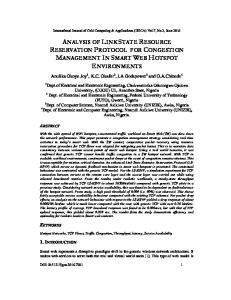 analysis of link state resource reservation protocol for congestion ...