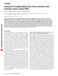Analysis of longitudinal data from animals with missing values using ...