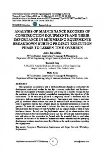 analysis of maintenance records of construction ...