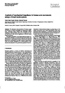 Analysis of mechanical impedance in human arm movements using a ...