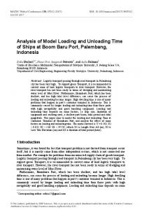Analysis of Model Loading and Unloading Time of Ships at Boom Baru ...