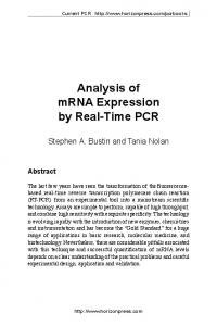 Analysis of mRNA Expression by Real-Time PCR - Gene-Quantification