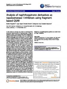 Analysis of naphthoquinone derivatives as ... - Springer Link