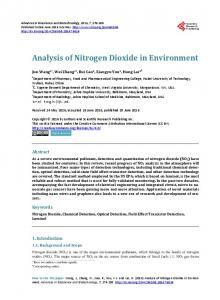 Analysis of Nitrogen Dioxide in Environment - Scientific Research ...