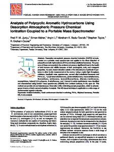 Analysis of Polycyclic Aromatic Hydrocarbons Using