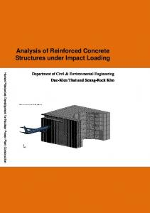 Analysis of Reinforced Concrete Structures under ...