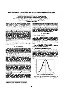 Analysis of Runoff Temporal and Spatial Distribution Based on Cloud ...