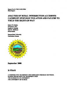 Analysis of Rural Intersection Accidents Caused by Stop ... - CiteSeerX