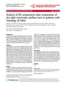 Analysis of RV components after reoperation of the ... - Springer Link