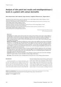 Analysis of skin patch test results and