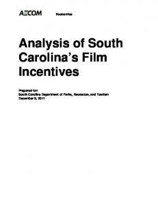 Analysis of South Carolina's Film Incentives - South Carolina Film ...