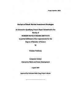 Analysis of Stock Market Investment Strategies - Worcester ...