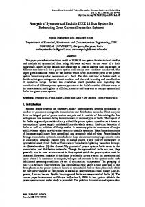 Analysis of Symmetrical Fault in IEEE 14 Bus System for ... - SERSC