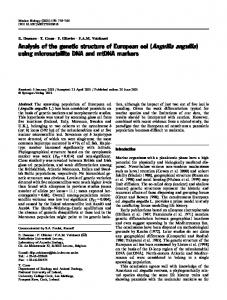 Analysis of the genetic structure of European eel (Anguilla anguilla ...