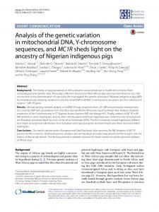 Analysis of the genetic variation in mitochondrial DNA, Y-chromosome ...