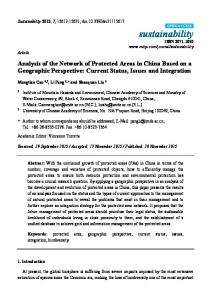 Analysis of the Network of Protected Areas in